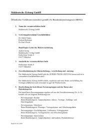 Süddeutsche Zeitung GmbH - Süddeutscher Verlag