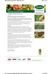 Aktuelle Garten Tipps