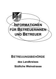 Informationen für Betreuerinnen und Betreuer - Landkreis Südliche ...