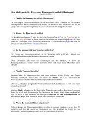 Liste häufig gestellter Fragen zur Blauzungenkrankheit (Bluetongue)