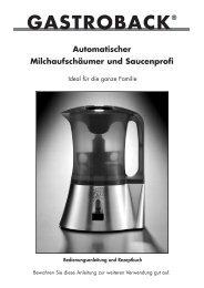 Automatischer Milchaufschäumer und Saucenprofi - Gastroback