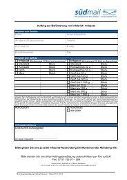Infopost Auftragsformular - Südmail