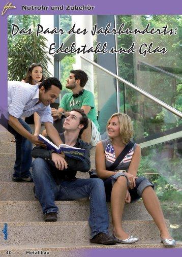 Das Paar des Jahrhunderts: Edelstahl und Glas
