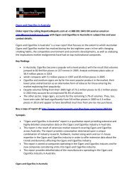 Australian Cigars and Cigarillos Market Forecast 2013-2023