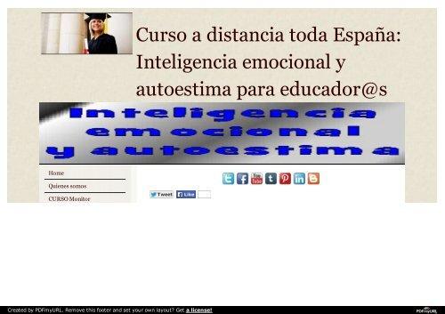 Curso Inteligencia emocional y autoestima para educadores