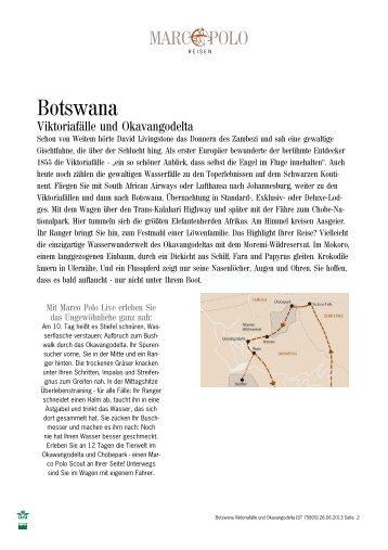 Botswana – Viktoriafaelle und Okavangodelta - Afrika Reisen
