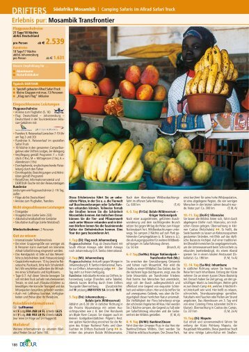 Mosambik Transfrontier Sommer 2012 - Afrika Reisen
