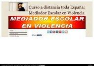 Curso a distancia toda España: Mediador Escolar en Violencia