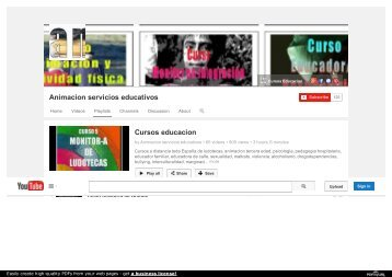 Videos Cursos educacion