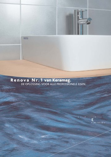 Renova Nr.1 van Keramag. - documentatie