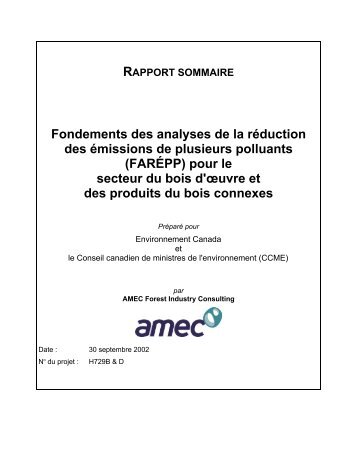Rapport sommaire - CCME
