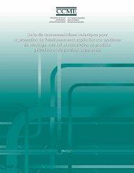Code de recommandations techniques pour la protection ... - CCME