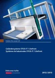 Geländersysteme STICK-IT / Litefront  Systèmes de balustrades ...