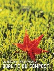 PN 1341 Lignes directrices sur la qualité du compost (2005) - CCME