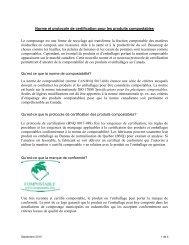 Norme et protocole de certification pour les produits ... - CCME