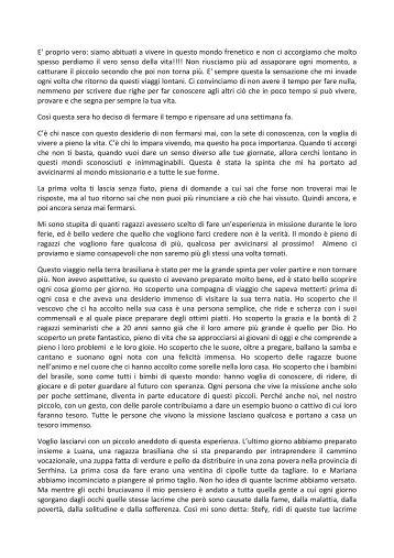 Stefania Lo Verde - Centro Missionario Diocesano di Bergamo