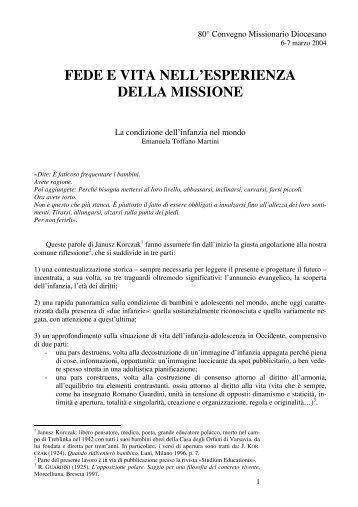 Scarica il documento in formato pdf - Centro Missionario Diocesano ...