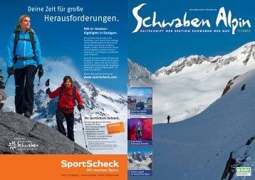 und Alpin-Klettern •Bergsteiger-Zelte und ... - DAV Sektion Schwaben