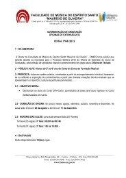 OFICINA DE TECLADO PARA ALUNOS DE CANTO DO ... - Fames