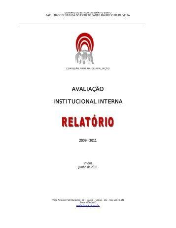 Relatório Final Avaliação Institucional - Fames - Governo do Estado ...