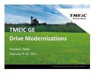 TMEIC GE Drive Modernizations - Gas/Electric Partnership