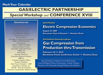 Gas Compression from Production thru Transmission - Gas/Electric ...