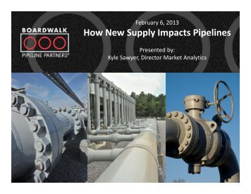 How New Supply Impacts Pipelines - Gas/Electric Partnership