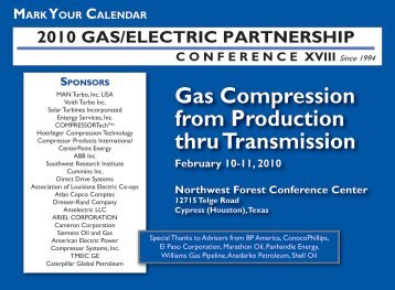 Gas Compression from Production thru Transmission February 10 ...