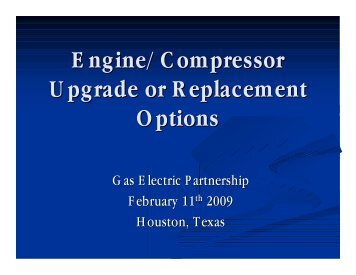 Engine/Compressor Upgrade or Replacement Options - Gas/Electric ...