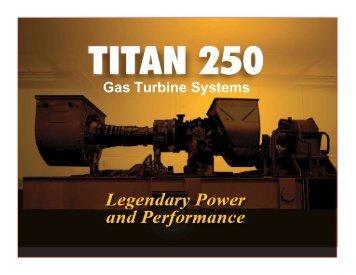 Titan 250 Turbine - Gas/Electric Partnership