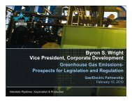 Greenhouse Gas Emissions - Gas/Electric Partnership