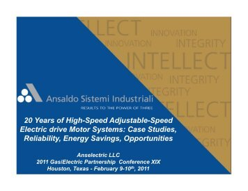 20 Years of High-Speed Adjustable-Speed Electric drive Motor ...
