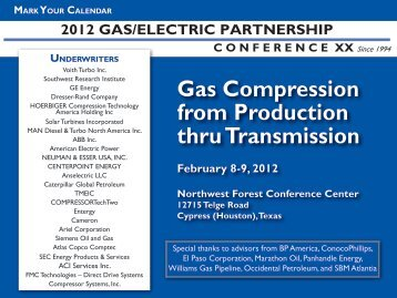 Gas Compression from Production thru Transmission February 8-9 ...