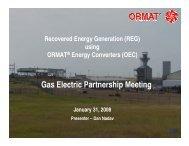 Ormat Technologies - Gas/Electric Partnership