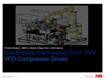 Variable Frequency Drives for Compressors - Gas/Electric Partnership