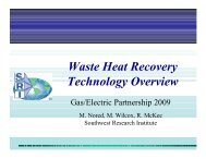Waste Heat Recovery Technology Overview - Gas/Electric Partnership
