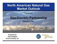 Energy Trends & Impacts on Gas Infrastructure - Gas/Electric ...