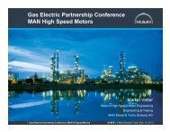 Gas Electric Partnership Conference MAN High Speed Motors