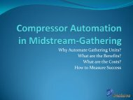 Why Automate Gathering Units? - Gas/Electric Partnership