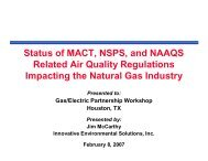 Status of MACT, NSPS, and NAAQS Related Air Quality Regulations ...