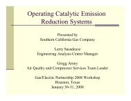 Operating Catalytic Emission Reduction Systems - Gas/Electric ...