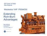 Extending Rich-Burn Advantages - Gas/Electric Partnership