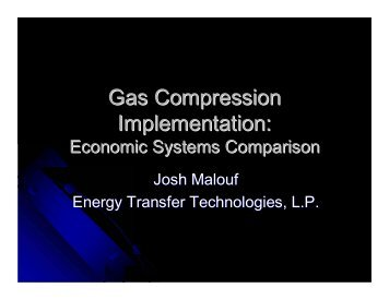 Josh Malouf, Energy Transfer Technologies - Gas/Electric Partnership