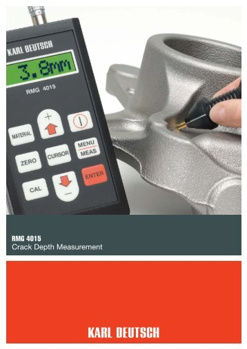 RMG 4015 Crack Depth Measurement - KARL DEUTSCH