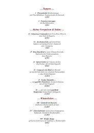 … Suppen … … kleine Vorspeisen & Salate ... - Südsee-Camp