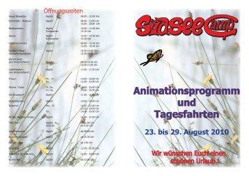 Animationsprogramm und Tagesfahrten 23. bis 29 ... - Südsee-Camp