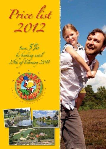 Price List 2012 - Südsee-Camp