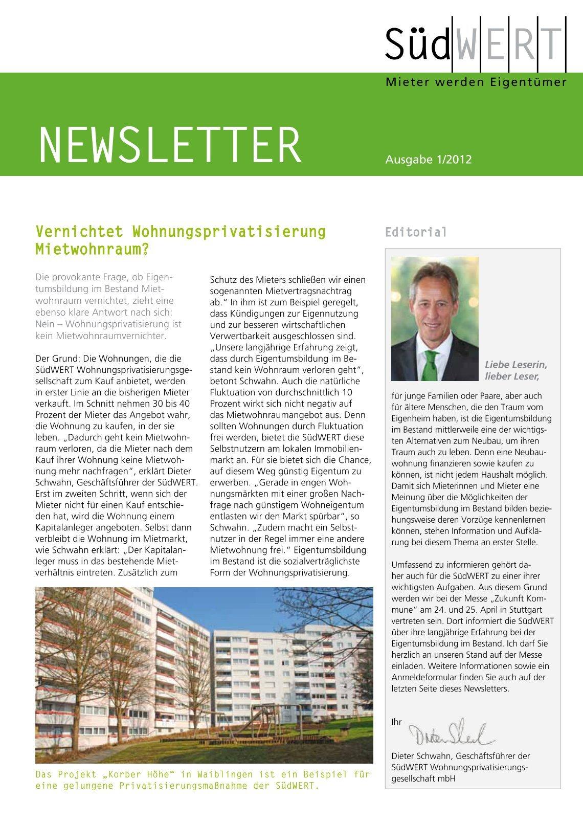 2 free Magazines from SUEDWERT.DE