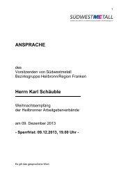 Rede Weihnachtsempfang 2013 Presse..pdf - Südwestmetall