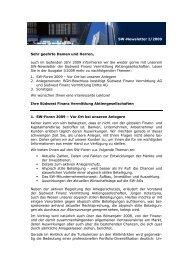 SW Newsletter Ausgabe I/2009 - Südwest Finanz Vermittlung ...